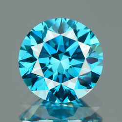 3.25 Mm Certified Round Fancy Blue Color Si Loose Natural Diamond Wholesale Lot