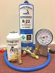 R22 AC Refrigeration RECHARGE KIT GAUGE PRO SEAL XL4 LEAK STOP KIT
