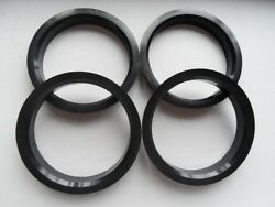 A Set Of 4pcs Plastic Hub Centric Hubcentric Ring Rings Id 72.56mm To Od 75mm