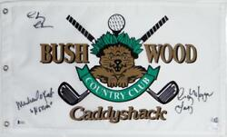 Chevy Chase Michael Oand039keefe Cindy Morgan Signed Bushwood Flag- Jsa W/ba W Auth