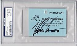 Mike Tyson Signed Autographed Slabbed Fight Participant Badge Psa/dna 84035230