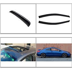 3pcs Front Vent Shade Window+sun/moon Roof Visors Fit 06-11 Civic 2-door Coupe