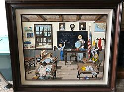 H. Hargrove Dear Old School Days Signed Painting 1987 Number 294 Of 750