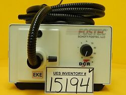 Schott-fostec 20750 Fiber Optic Eke Light Source Dcrii With Cable Clm-3d Used