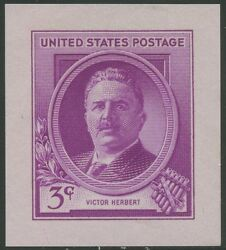 881p2 Small Die Proof Victor Herbert Ex-a. Hall B.e.p. 1924-54 Wlm4154 Blhg