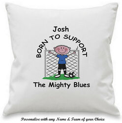 PERSONALISED Novelty Any FOOTBALL Team CUSHION Gift Ideas For HIM Fan Club