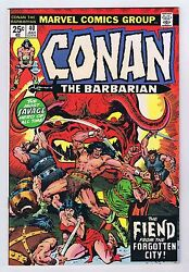 Conan The Barbarian 40 Vf Owp Complete 1974 1st Print Marvel Comics Pwc