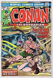 Conan The Barbarian 35 Vf Owp Complete 1974 1st Print Marvel Comics