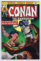 Conan The Barbarian 38 Vf+ Owp Complete 1974 1st Print Marvel Comics Pwc