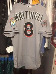 Game Used Don Mattingly Miami Marlins Jersey 04/03/2017