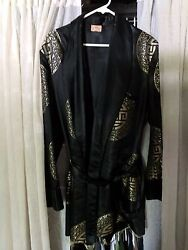Vintage Late 1940and039s-1950and039s Japanese Smoking Jacket/ Robe