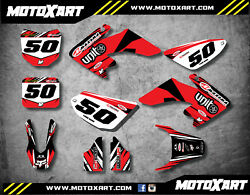 Full Custom Graphics Kit Digger Style Honda Crf 50 - 2004 / 2019 Stickers Decals