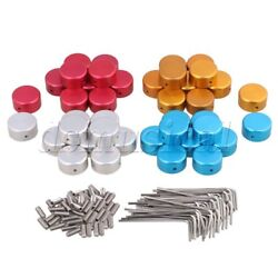 40x Guitar Effects Accessories Stomp Switch Pedal Box Foot Metal
