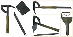 Swiss Army Multitool 4in1 Pick Axe Ax Saw Shovel Military Survival Tool Outdoor
