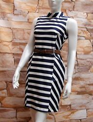 FLORENCE amp; FRED NAVY BLUE amp; WHITE STRIPED COTTON DRESS Sizes 681012141620 GBP 15.95