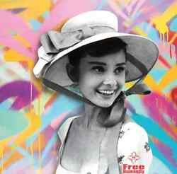 Hepburn's Humanity By Free Humanity Signed Print Audrey Like Eaton, J Gold Crown