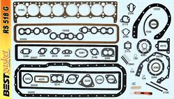 1934-1950 Buick Straight-8 Engine. Full Gasket Set. Best. Free Shipping