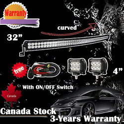 32 inch LED Light Bar + 2x 4in CREE Led Pods ATV SUV UTE 4WD Truck Jeep Ford 30