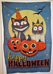 Halloween Carnival Happy Halloween Large House Flag - 2 Sided By Carson