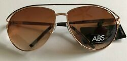 DESIGNER SUNGLASSES -PLATINUM BY ABS  - BEAUTIFUL  GOLDEN - $5.99 - WCASE