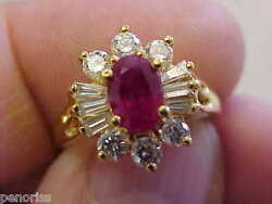 Spectacular 18k Ruby And Diamond Ring Size 5 Make Offer
