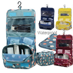 Portable Travel Cosmetic Bag Women Makeup Pouch Toiletry Hanging Organizer Bag $9.79