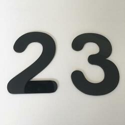 Black Gloss, Flat Finish, House Number - Rounded Font Listing Is For 1 No