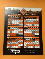 2017 Baltimore Orioles Magnetic Schedule – 25th Anniversary