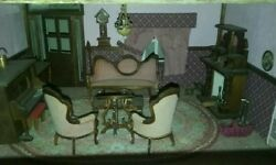Antique Doll House Some Items Handmade And All The Acessories U Would Need