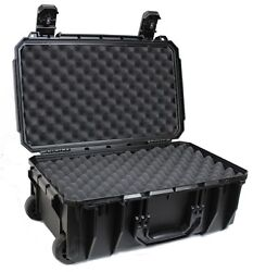 Carry-on Locking Waterproof Case Wheels Convoluted Egg Crate Foam