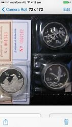 3pc China 1994 95 97 12-gon Silver Coin Set.coa Number Are Different With Pic