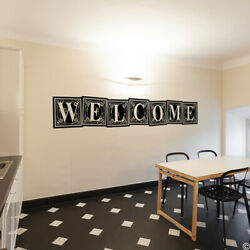 Welcome Wall Decal Quote Removable Home Decor Sticker Word Signs Diy L222