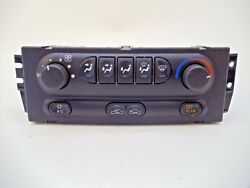 98-02 Oldsmobile Intrigue Manual Climate Control Heater Switch