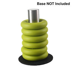 6-Pack Soft Silicone Coaster Round Rings Trivet Exercise Grip (Green)