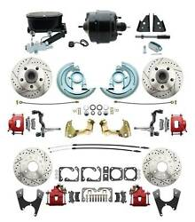 1964-72 A-body D/s 4 Wheel Disc Brake Performance Conversion Kit Red Oval Master