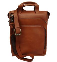 Leather Messenger Backpack New York $250.00