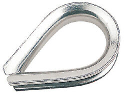 Heavy-duty Rope Thimble Galvanized 1/4 Corrosion Resistant Stainless Steel