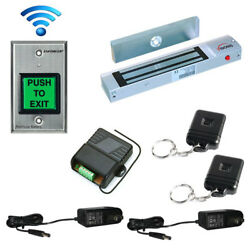 Fpc-5178 One Door Entry Outswinging 300lbs Wireless Receiver And Exit Button
