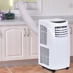 Portable Air Conditioner & Dehumidifier Remote Control w Window Kit 46lbs White