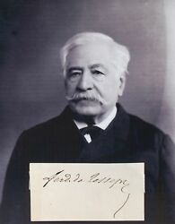 Ferdinand De Lesseps Developed Suez Canal In 1869 Autograph And039and039rareand039and039