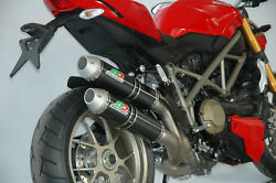 Ducati Streetfighter Sf 848 1098 Qd Exhaust Slip-on Mufflers Carbon Round System