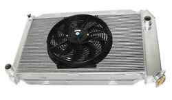 For 14 Fans Fits For 71-73 Ford Mustang V8 Mt Aluminum Racing 3 Row Radiator