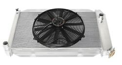 For 16 Fans Fits For 71-73 Ford Mustang V8 Mt Aluminum Racing 3 Row Radiator