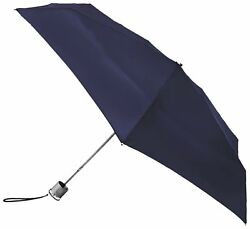 Micro Umbrella Navy One Size Cover Polyester Purse Manual Diameter Measures Bag