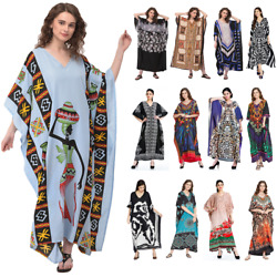 Women Plus Size Kaftan Boho Maxi Dress Night Gown Women#x27;s Sleeve Vintage Caftan