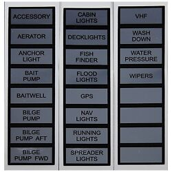 Marpac Marine Label Kit For Switch Panel Basic. Fits All Marpac Switch Panels