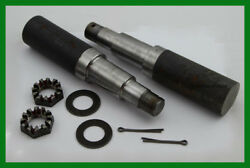 Trailer Spindle Kit 1750 Lb. 1.75 Round Kit Nut Washer And Cotter Pin Set Of 2