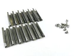 G Scale Model Train Stainless Steel Track Rail Joiners 12 Pcs + 12pcs Screws