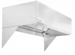 Hoodmart 11and039 X 48 Short Cycle Makeup Air Type 1 Commercial Kitchen Hood