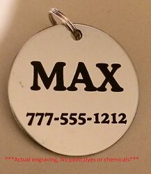 Stainless steel dog pet id tags lifetime guarantee Personalized w free ring $5.95